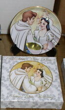 Disney  Snow White & Prince Wedding Porcelain 3 inch Plate