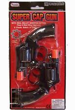 1 SET DUEL 38 SPECIAL BLACK PLASTIC 8 SHOT CAP GUN PISTOLS boys play toy guns