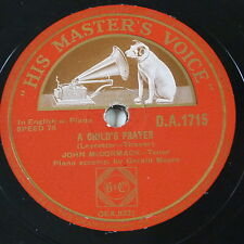 78rpm JOHN McCORMACK a childs prayer / the old house