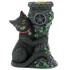 Black Cat Candle Holder Halloween Candlestick Holder Ornament Celtic Mystical
