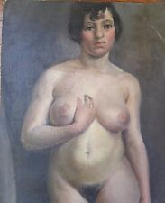 John Haley - Portrait Painting Nude Woman - 1927 - Oil on Canvas