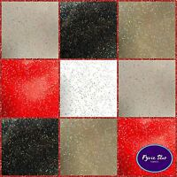 Vinyl PVC Tablecloth - Easy Wipe Clean GLITTER Solid Patio Oilcloth 140cm Wide