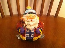 vintage rolly poly Santa Claus figure skiing Solid Resin Intricate detail Ski