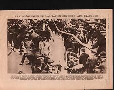 WWI manifestation Police Workers Ouvriers Cleveland Ohio USA 1919 ILLUSTRATION
