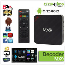 ANDROID BOX INTERNET SMART TV MX9 4K STREAMING QUAD CORE 1GB RAM WIFI XBMC/Kodi