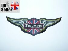 Triumph wings Iron on/ Sew on Patch Biker Motorcycle