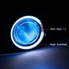 Super Bright Motorcycle LED Projector Headlight & CCFL Angel eye +Demon eye US
