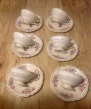 6 CONTINENTAL IVORY - ROSENTHAL  COFFEE CUPS & SAUCERS