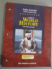 World History : The Human Journey: Daily Quizzes with Answer Key