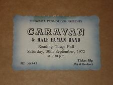 Caravan/Half Human Band 1972 Reading Concert Ticket