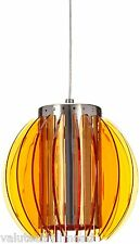 Naeve Leuchten 1 Light Globe Pendant in Orange - 25cm Dia