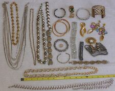 Lot of gold tone and silver tone costume jewelry