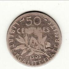 A SAISIR 50 CENTIMES  TYPE SEMEUSE 1903 tres difficile avoir   b3t2