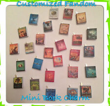 Customized Mini Book Charm Necklace Gift OOAK Geekery Classic Unique