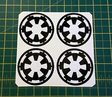 4x 55mm ALLOY WHEEL STICKERS Star Wars Empire centre cap badge trim