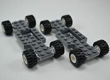Lego lot of 2 VEHICLE CHASIS FRAME with wheels B261