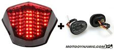 09-16 Yamaha FZ6R SEQUENTIAL LED Tail Light Smoked + Flush Mount Signal COMBO