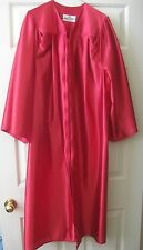 """Graduation Red Gown Robe Size 5'3"""" - 5'5"""" Adult Small M Unisex Oak Hall CE Ward"""