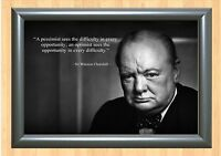 WINSTON CHURCHILL INSPIRATIONAL / MOTIVATIONAL QUOTE POSTER FANTASTIC (10