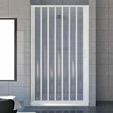 Nuovo box doccia a soffietto per nicchie da 100 cm in acrilico apertura laterale