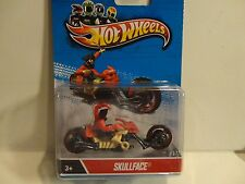 Hot Wheels Motorcycles Skull Face Blue Package