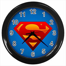 NEW* HOT SUPERMAN  Black Wall Clock Decor Gift D01