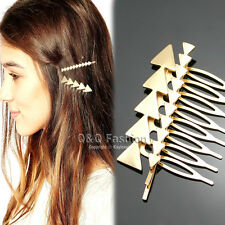 2x Blogger Hen Party Gold Arrow Hair Pin Bobby Clip Dress Snap Barrette Comb