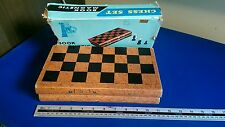 "Vintage book magnetic chess set balzac 11"" x 10.9"