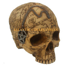 "SALEM WITCH SKULL STATUE 7"" FIGURINE PAGAN WITCHCRAFT SORCERY JUNE BACKORDER"