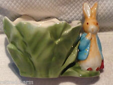 ❤️1998 Beatrix Potter Peter Rabbit��Collectible Ceramic Planter Pot Teleflora❤️