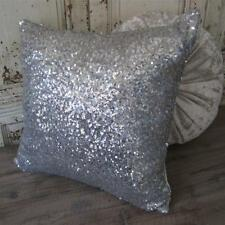 Exquisite Sparkly Silver Sequins Cushion Cover Home Decor Pillow Case 45cm