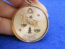 $28 Nordstrom LIBRA Horoscope Sign Zodiac Pendant Medallion Goldtone NO CHAIN