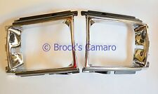 86-88 TOYOTA PICKUP 4WD / 86-89 TOYOTA 4 RUNNER SR5 HEADLIGHT BEZELS SET CHROME