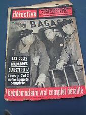 Détective 1963 862 BAUDRES CHAUMONT LIBOURNE ERQUELINNES BELFORT GRAND RENG