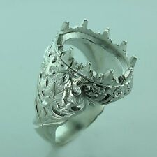 13x17 oval cabuchon ring  setting sterling silver 925 #223