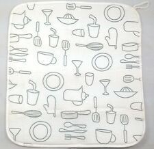 ZG1809 MICROFIBRE DRYING MAT GREY PRINT