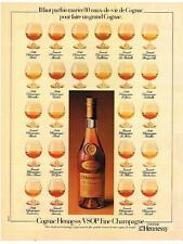 PUBLICITE   1982    HENNESSY VSOP    fine champagne alcool
