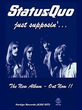 "Status Quo Just Supposin 16"" x 12"" Photo Repro Promo Poster"