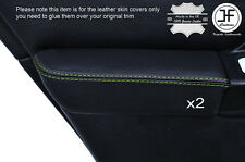 GREEN STICH 2X REAR DOOR ARMREST LEATHER COVER FOR SUBARU IMPREZA WRX STI 01-04