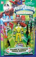 "Power Rangers Time Force 5"" TF Fighter Yellow Ranger New Factory Sealed 2001"