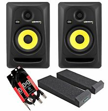 KRK RP5 G3 (Pair) With Auralex Mopads and 2 Speaker Wires