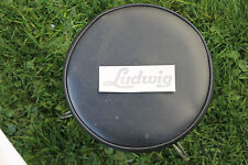 VINTAGE LUDWIG 60's LOGO BASS DRUM DECAL. BLACK REPLICA.