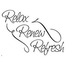 RELAX refresh REVIVE quote wall sticker art decal bedroom bathroom beauty salon