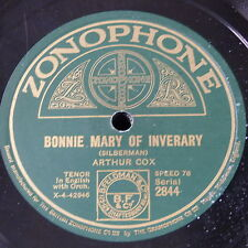 78rpm ARTHUR COX bonnie mary of inverary / it takes more to steal an irish heart