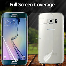 Front + Back Clear LCD Screen Protector Guard Film For Samsung Galaxy S7  Edge