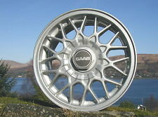 "New Stunning Genuine Original Saab 900 9000 15"" 10 ' X ' Spoke Alloy Wheel Caps"