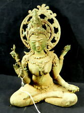 LARGE OLD BRONZE BUDDHA QUAN YIN STATUE. HEALING...  GOOD HEALTH..  LIFE