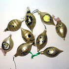 Christmas Tree Decorations Baubles - 9 Blown Glass - Brushed Champagne/Gold