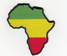 """Rasta Africa Map (GYR) Embroidered Patches 3.25""""x3"""""""