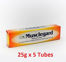 Natural Musclegard Herbal Cream-Rapid Relief for Backache & Muscular Pain 25g x5